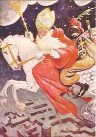 Sinterklaas - Pol Dom prentbriefkaart (C11159)