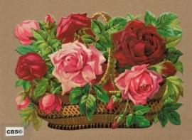 Mand met felrood roze rozen poezieplaatjes 5094