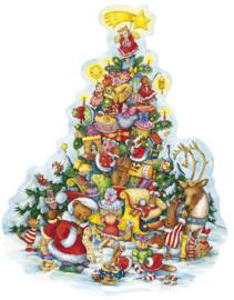 11646 XXL Adventskalender: Arreslee volgeladen met cadeautjes