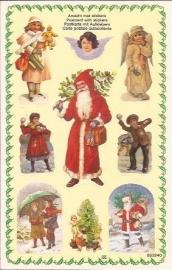 Poezieplaatjes Kerst stickers prentbriefkaart 853240