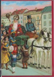 Sinterklaas komt binnen met goudopdruk [SV U104]