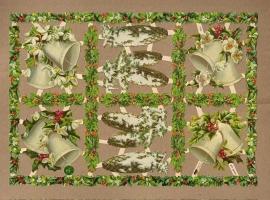 Kerstklokken en winterse dennenappel poezieplaatjes 7420