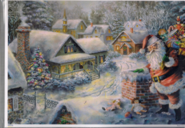 10385  Adventskalender Kerstman bezorgd pakjes