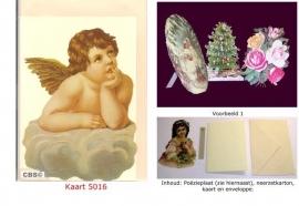 Sierkaart 5016: Engel op wolk Poëzieplaatjes