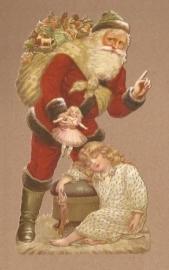 Meisje slaapt als Kerstman komt poezieplaatjes 5118