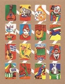 Zulia 4 oude Spaanse poezieplaatjes Circus
