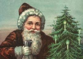 Kerstman met cadeau's en Kerstboom EF 3030