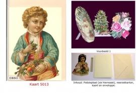 Sierkaart 5013: Jongen met fruit Poezieplaatjes