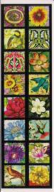Bloemen en vogels poezieplaatjes Stickers Strip QT30