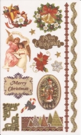 Kerst Victoriaanse Nostalgie 3 Rub on afschrijfplaatjes