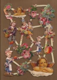 Glitter: Engelen, kindjes en fuchsia poezieplaatjes LN68
