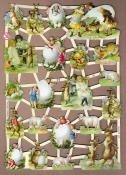 Paaseieren met kindertjes Poëzie plaatjes GL7272