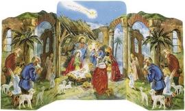11562 3D Adventskalender: Jozef, Maria, Jezus en de herders