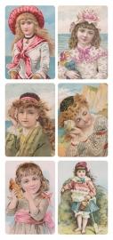 Meisjes bij de zee poezieplaatjes Stickers Y166