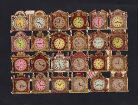 Klokken antieke poezieplaatjes Printed in Germany No. 636