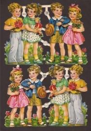 PZB 1315 Gelukkige kindjes oude poezieplaatjes