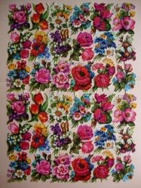 3098 EAS Dubbel Vel Allerlei bloemen Poezieplaatjes