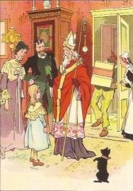 Daar is Sinterklaas met z'n knecht prentbriefkaart [C11099]