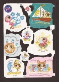 Littlest Pet Shop poezieplaatjes met glitter MLP 2159