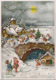 10397 Kerstengeltjes op weg naar Kerk Adventskalender