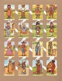 Zulia 19 oude Spaanse poezieplaatjes Klederdracht