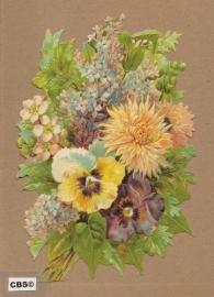 Seringen en viooltjes in boeket poezieplaatjes 5075
