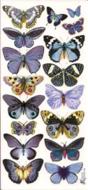 Blauwkleurige vlinders poezieplaatjes Stickers C65