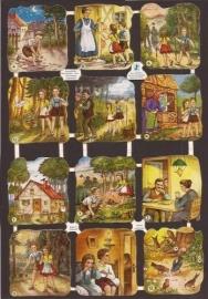 WS Hänsel und Gretel 1 oude poezieplaatjes