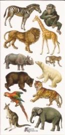 Dierentuin Wilde dieren poezieplaatjes Stickers C64