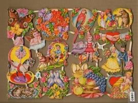 Vanalles met vlinder, engel, duifjes poezieplaatjes WS 620