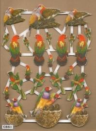 Vogels met goud poezieplaatjes 572535