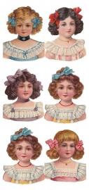 Meisjes met strikjes poezieplaatjes Stickers Y141