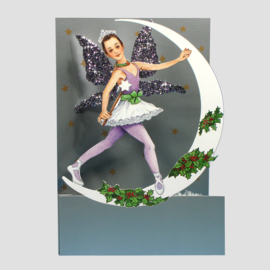 3D kaart Moon Fairies: Ballet Kerst Engel [XC-5214]