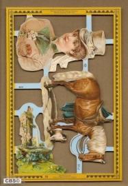 Amazone met paard poezieplaatjes A 63