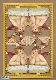 Engeltjes op wolken poezieplaatjes A 127