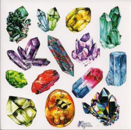 Mineralen poezieplaatjes Stickers K57