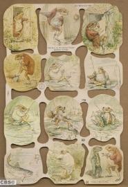 Beatrix Potter - Jeremy Fisher poëzieplaatjes MLP 1788