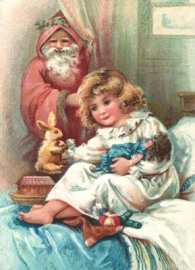 Kindje is blij met kerstcadeau's Reliefkaart EF 3022
