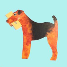 Mini geschenk kaart hond: Welsh Terrier  [EG-2165]