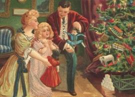 Op Kerstmorgen cadeau's bekijken Reliefkaart EF 3002