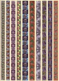 Kerstversiering Randjes metallic stickers