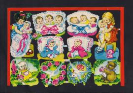 Babytjes en dieren poezieplaatjes 1675