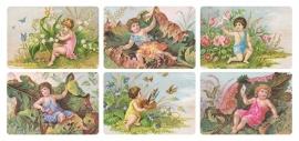 Kindjes met bloemen poezieplaatjes Stickers Y205