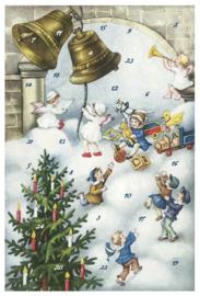 Adventskalender Kaart: Klokken luiden op kerstmorgen - 12401