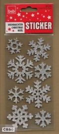 Sneeuwvlokjes glinster Stickers Zilver