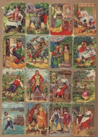 Mokta Williot Trade Cards Sprookjes poezieplaatjes 1584 B