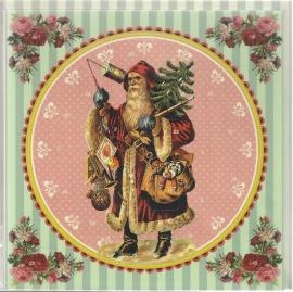 12439 Adventkalender Kaart: Kerstman met speelgoed