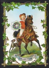 Jongetje te paard TNC 33 Deense poezieplaatjes