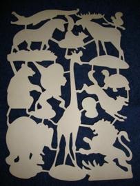 E.O. & Co 4708 Wilde dieren poezieplaatjes