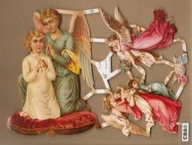 Knielende en Zwevende Engelen Poëzie plaatjes 7156